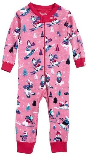 200848f51 Hatley Infant Girl s Snow Bunny Waffle Knit Organic Cotton Fitted ...