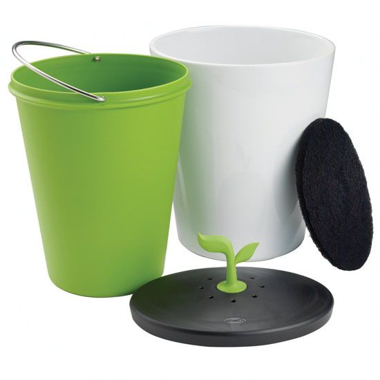 Chef'n EcoCrock Counter Compost Bin for kitchen.