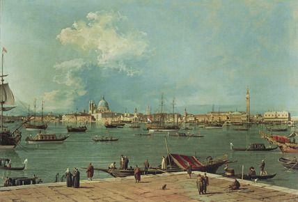 Venice: the Bacino di San Marco from San Giorgio Maggiore, Canaletto