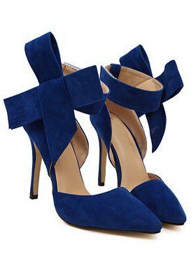 alto tacón Zapatos con 52 28 azul lazo gPqvWqwnf