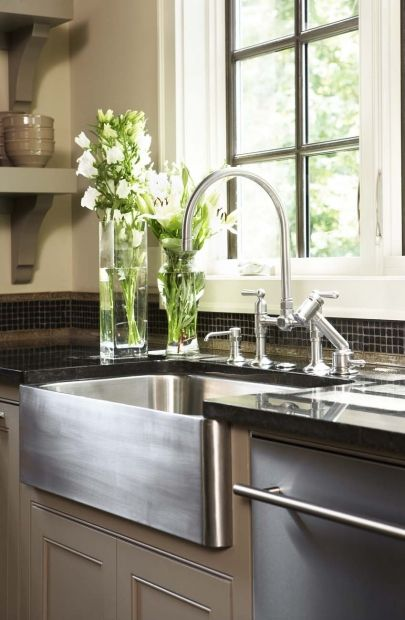 14 Great Takes On Farmhouse Kitchen Sinks Cultivate