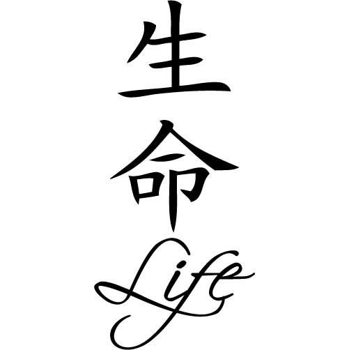 Chinese Symbol For Life Chinese Symbol Life Small Vinyl Wall