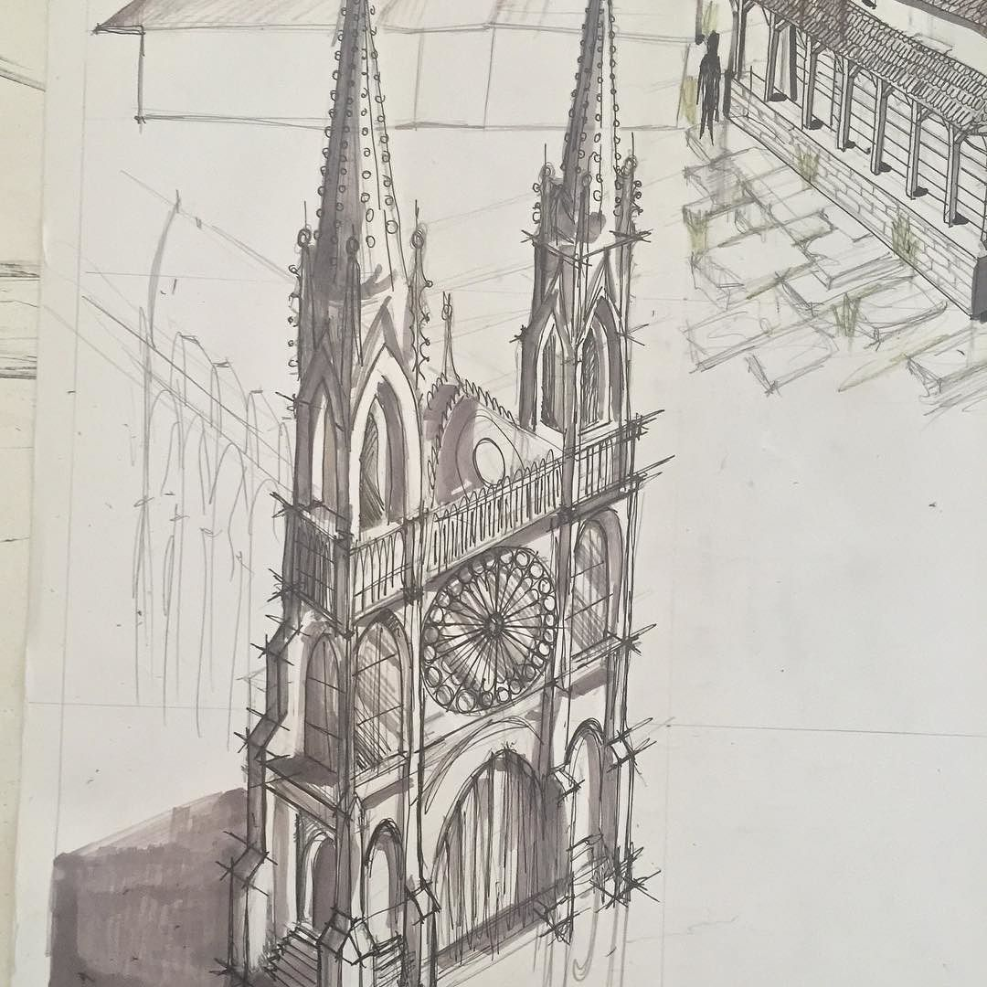 Design Drawing Architecture Art Sketching Buildings Perspective