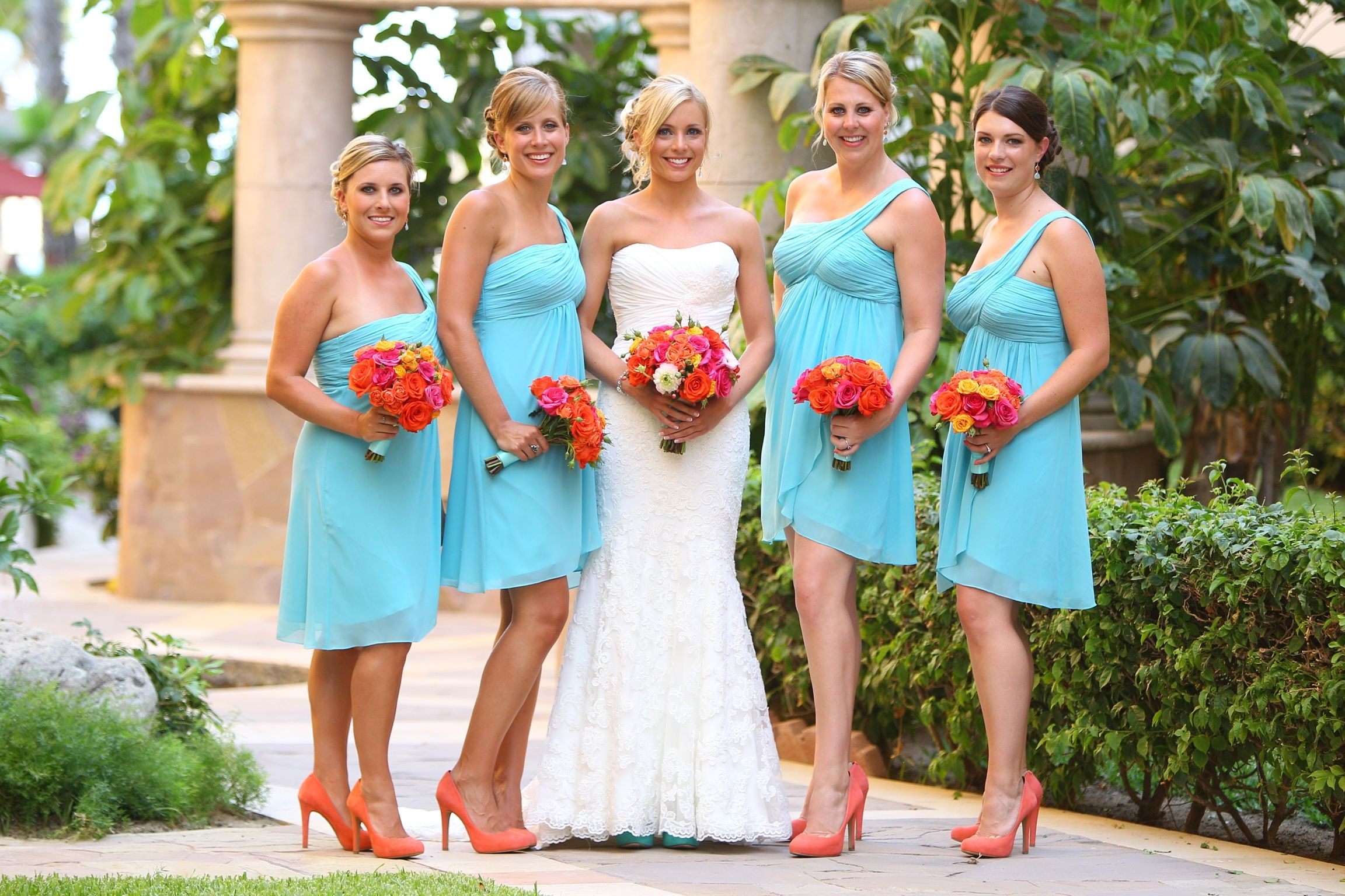 Turquoise And Orange Wedding Was Having A Hard Time Choosing Between My Favorite Color