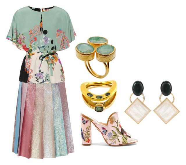 """""""Emerald"""" by frumpypuss ❤ liked on Polyvore featuring Gucci, Etro, Aquazzura and Marni"""