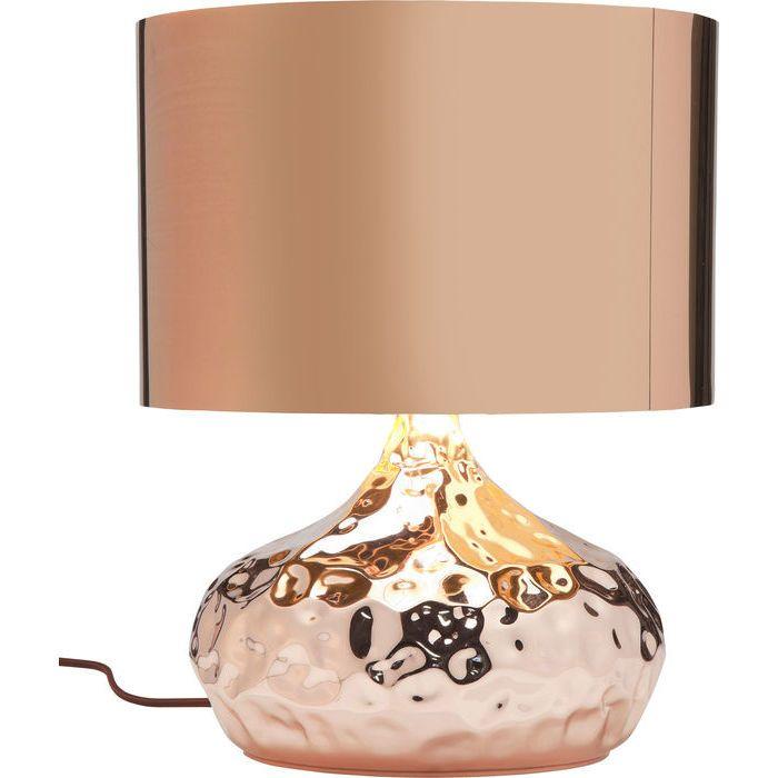 Lampara Mesa Rumble Cobrizo 38cm Kare Design Copper Table Lamp Table Lamp Bronze Table Lamp