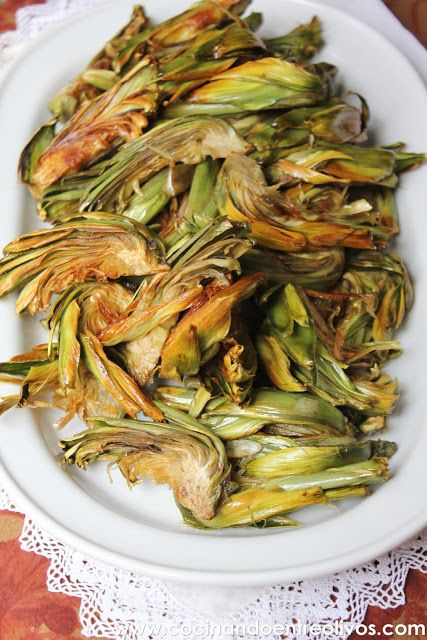Cocinando entre olivos alcachofas fritas receta paso a for Cocinando entre olivos