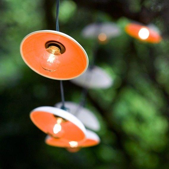 Disc String Lights por PigeonToeCeramics en Etsy