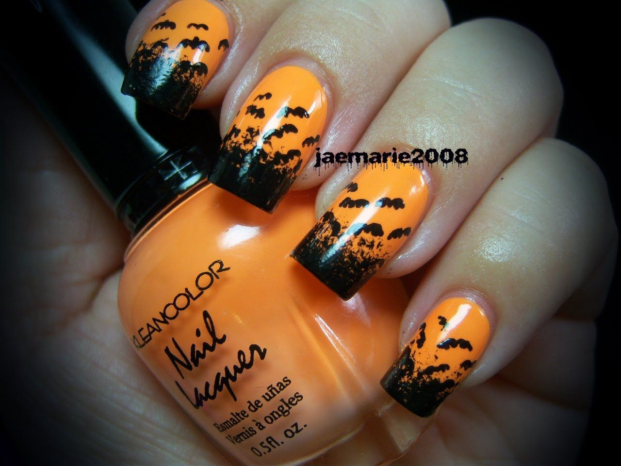 halloween nail design bats bats more bats just in case you need