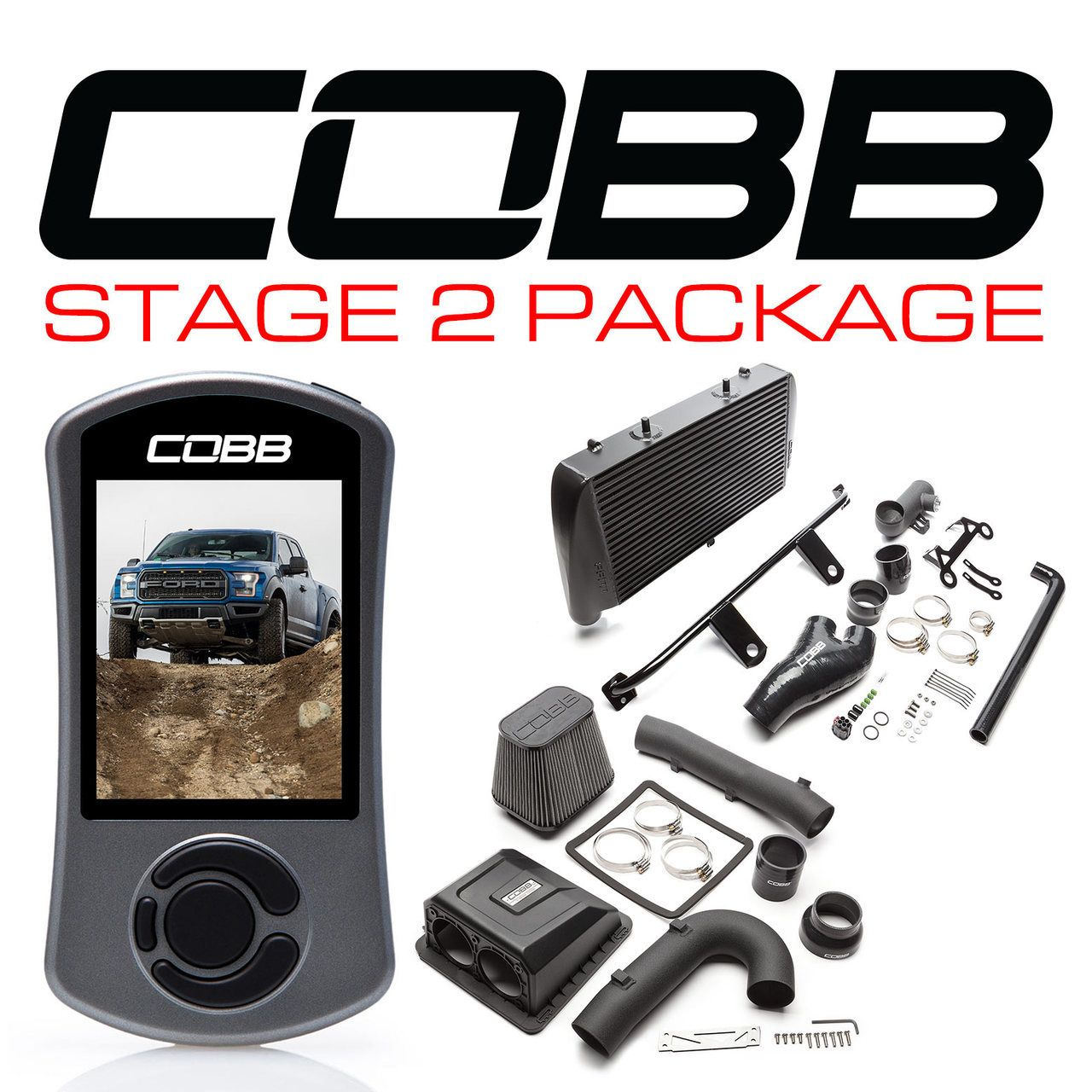 Cobb Stage 2 Power Package Black For 2017 2018 Ford Raptor Ecoboost Raptor Ford Raptor Packaging