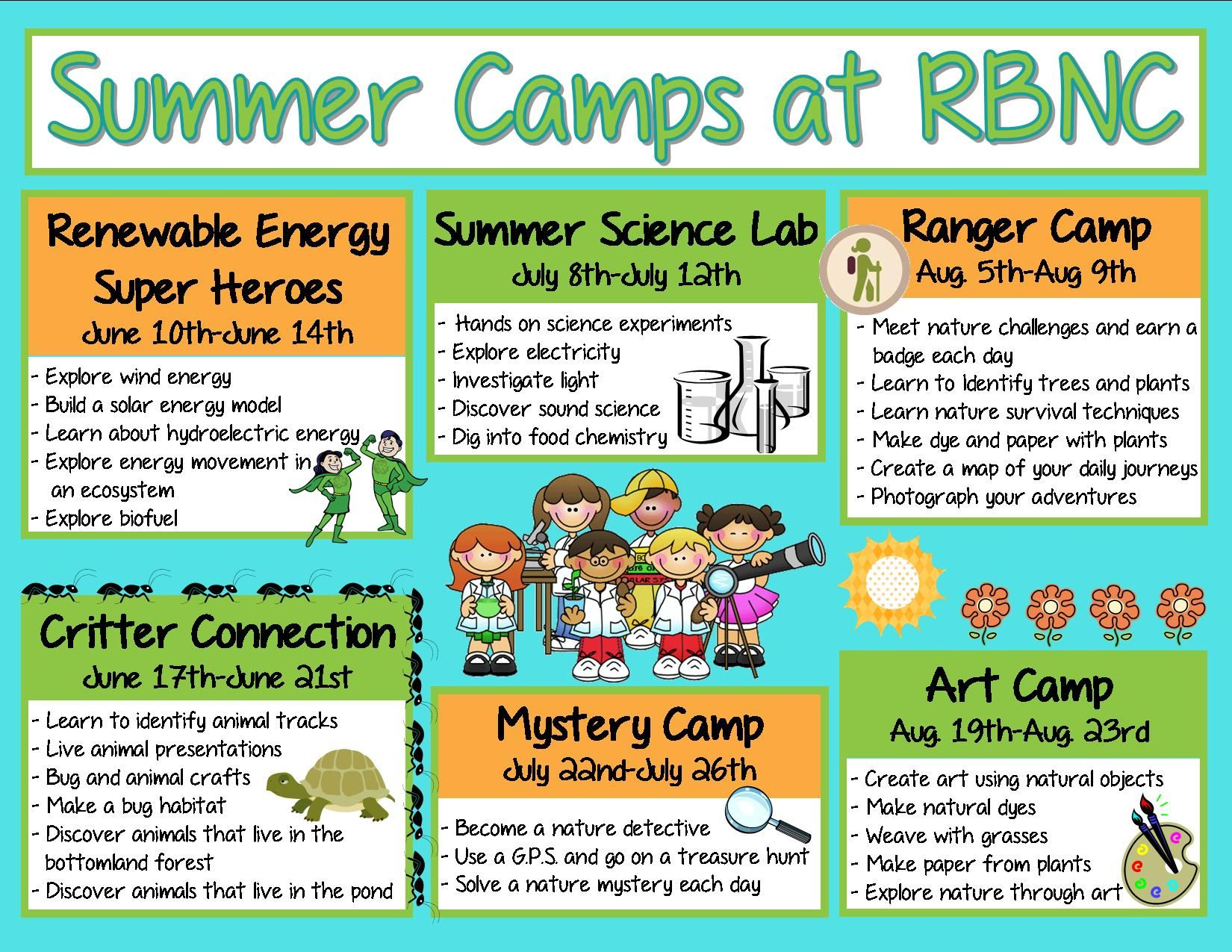 Summer Camps For Everyone At River Bend Summer Camp Themes