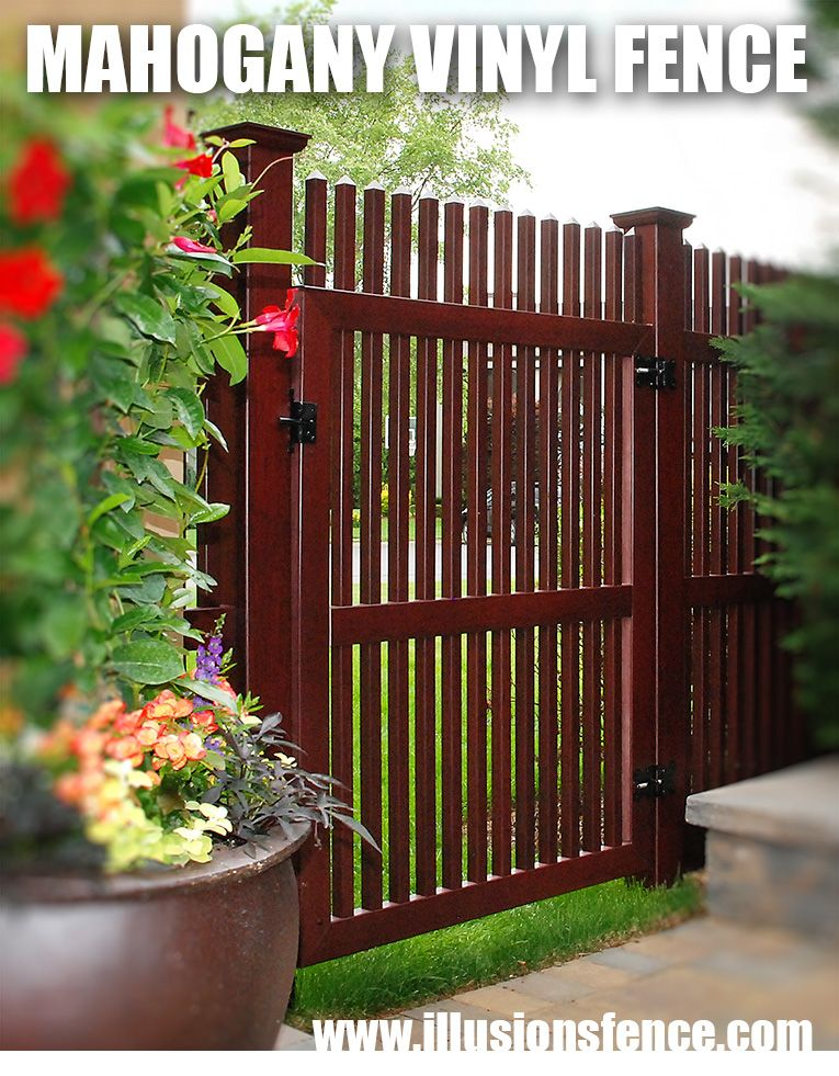 Looking For A Great Home Improvement Idea The Illusions Vinyl Fence Reviews Are In It S Awesome Mahogany Pvc Fence That Looks Like Stained Wood Fence Homei