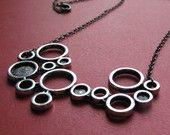 molecule silver necklace