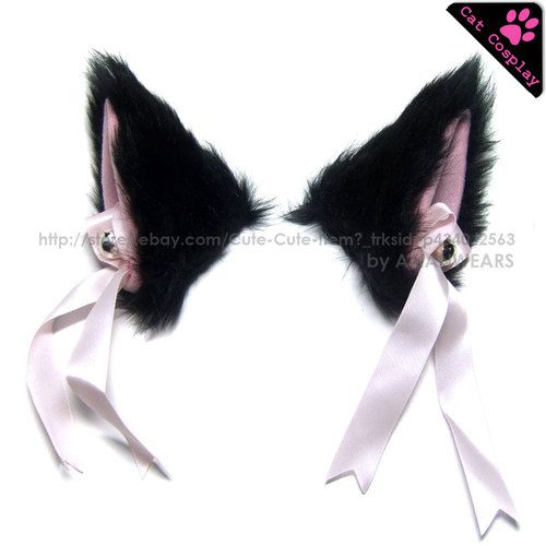 Beelittle Cat Cosplay Costume Accessories Kitten Ears Tail Collar Paws for Women Girl Halloween Dress Up