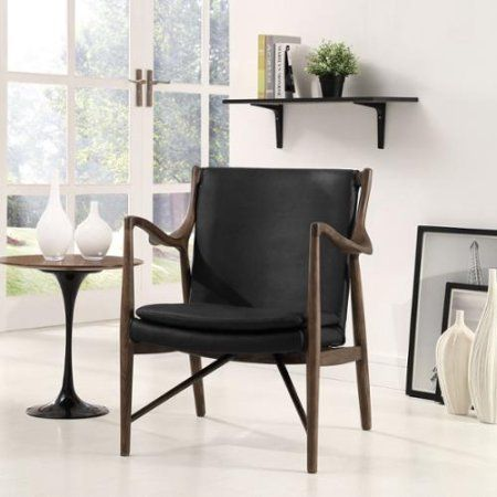 Modway Ambition Armchair Walnut Black