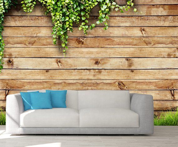 Wooden Wall Covering Wall Decor Peel And Stick Wall Art Etsy Stick Wall Art Rustic Wallpaper Wooden Walls
