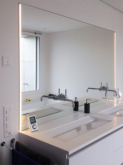 Präzise Massaufnahme war bei diesem Badezimmerspiegel entscheident - badezimmerspiegel mit licht