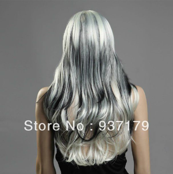 black and whiteOmbre Hair | silver and black ombre hair MEMEs