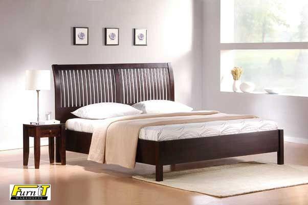 Sentosa Sleigh Bed Queen Bedframe Alone Wooden Bed Frames Bed Bed Frame