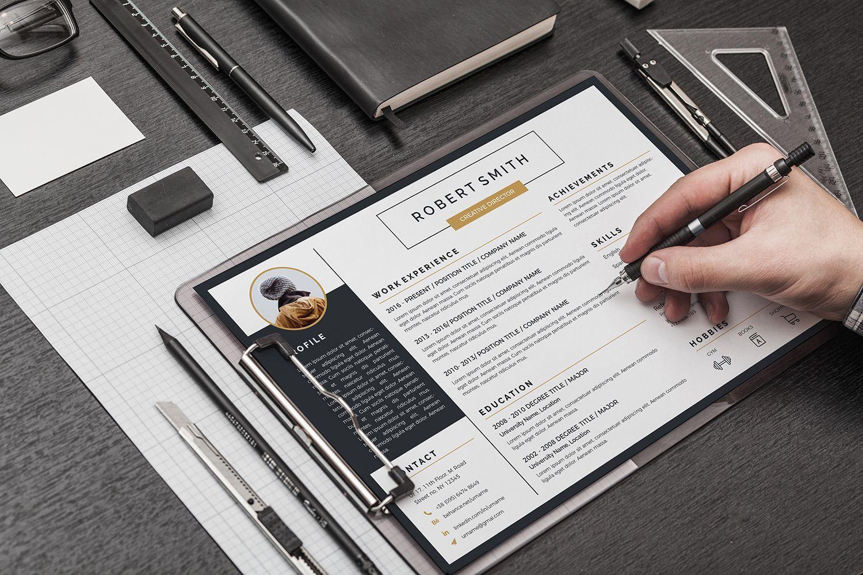 Apollo Landscape Premium Resume Template Resume design