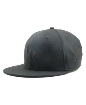 New Era Kids' Colorado Rockies Mlb Black on Black Fashion 59FIFTY Cap - Black 6 5/8