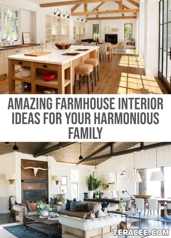 15 Amazing Farmhouse Interior Ideas For Your Harmonious Family Farmhouse Interior Modern Farmhouse Interior Design Modern Farmhouse Furniture