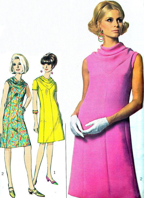 Patrones d vestidos. 1960 | Tiempo y Moda | Pinterest | Patrones ...