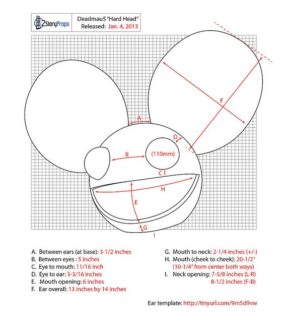 Deadmau5 Hard Head Measurements Deadmau5 Costume Deadmau5 Head Michaels Halloween