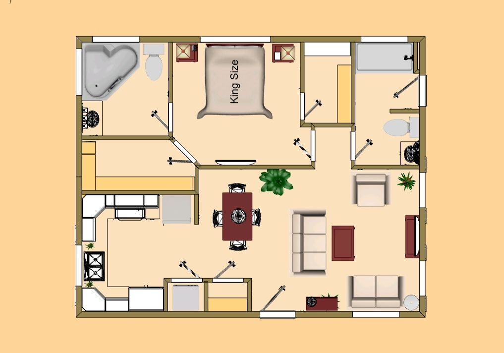 Tiny house floor plans 720 sq ft small house floor for Small house design 3rd floor