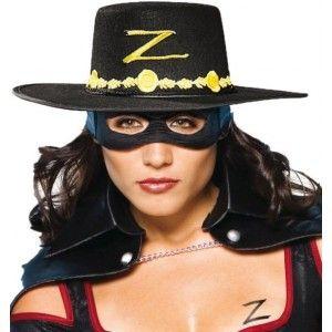 femme rechercher le dernier nouvelles images de Chapeau zorro et masque loup zorro adulte | Halloween Party ...