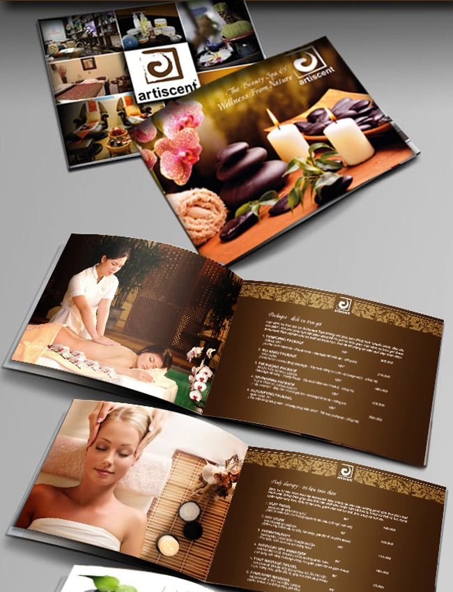 Atiscent Spa Brochure \ Catalogue Graphics Pinterest - spa brochure