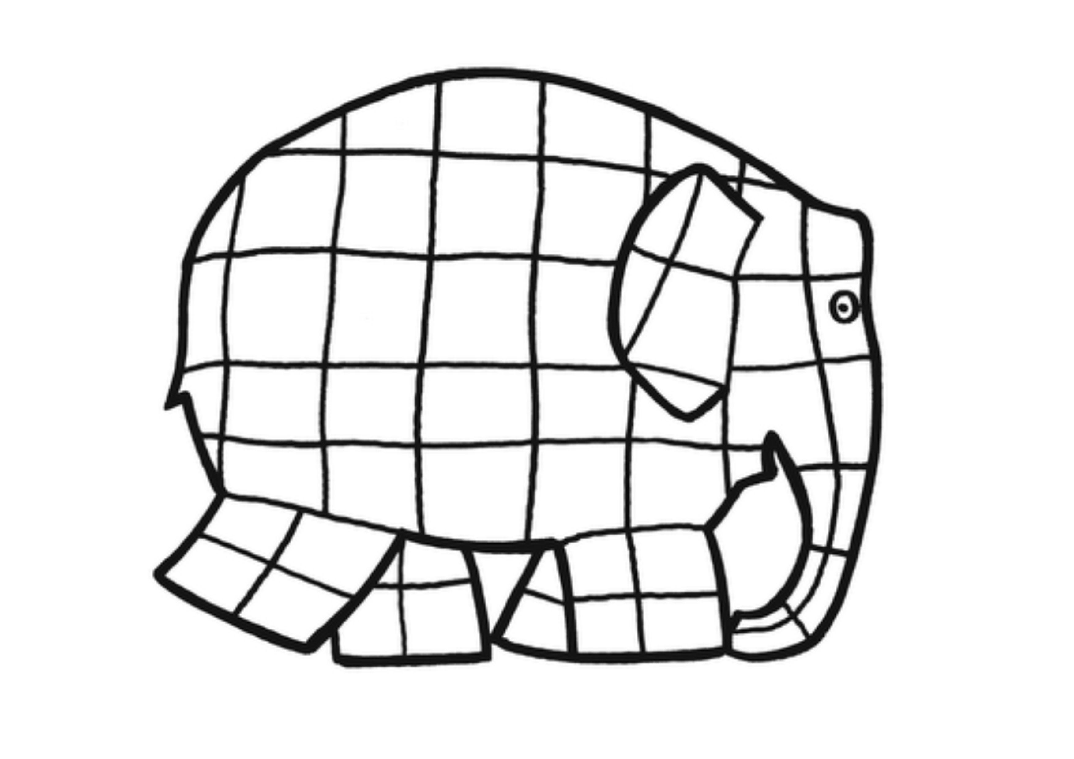 Elmer Elephant Coloring Page Elmer The Elephants Elephant Coloring Page Elmer
