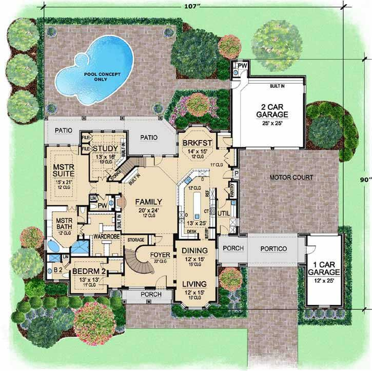 english country style house plans - 5518 square foot home , 2 story
