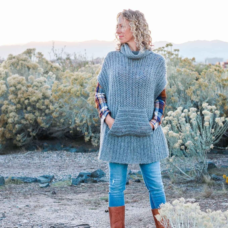 Crochet Kit - Greyscale Poncho   Ponchos