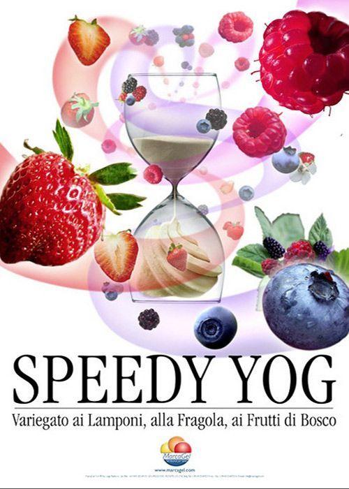 Speedy Yog, 2007: una linea di variegati dolcificati con solo fruttosio.  #gelato #fruttosio #variegati www.marcagel.com