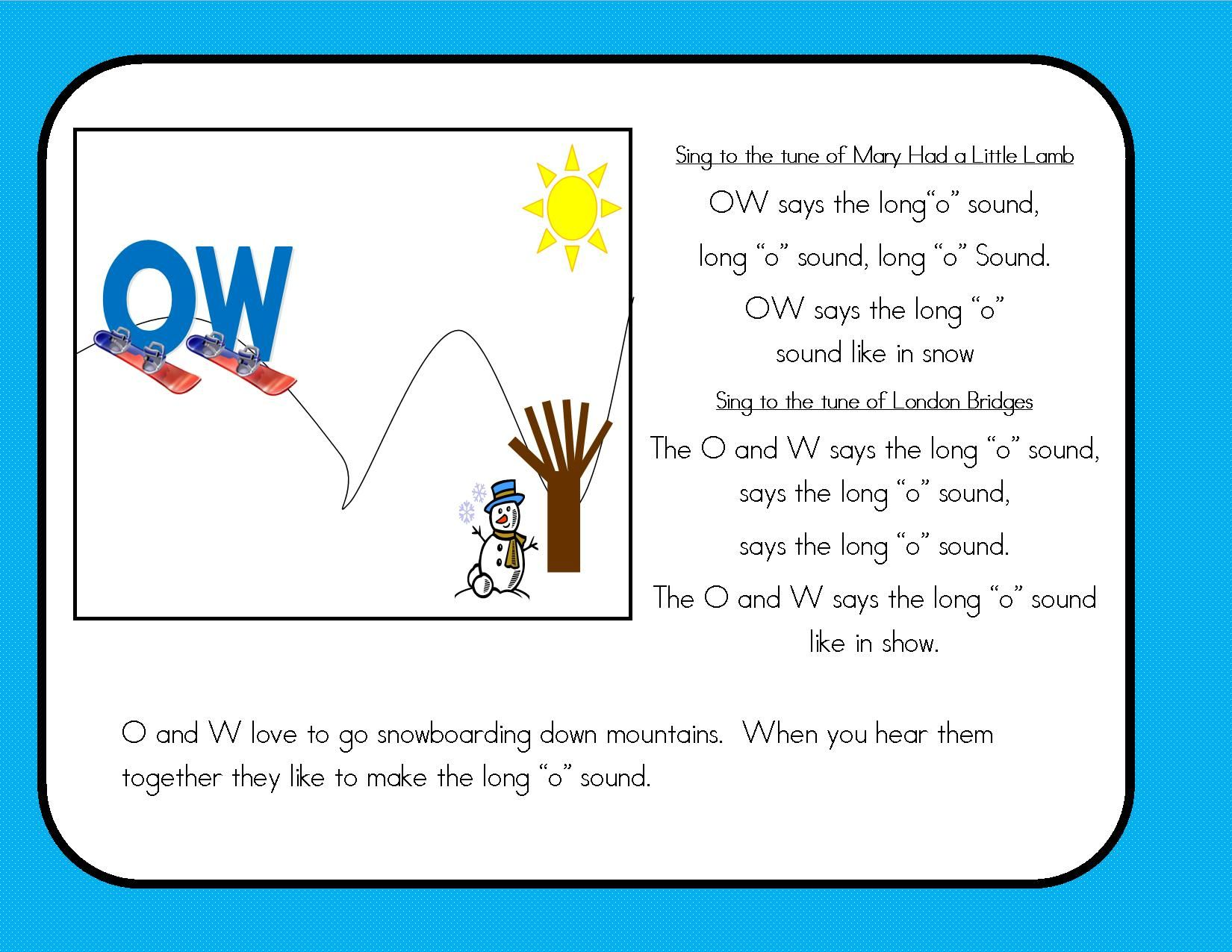 Oa Ow Literacy Activities Bundle With Assessment