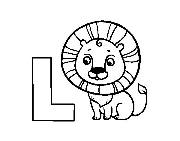 Dibujo Del Abecedario Letra L Para Colorear Letras