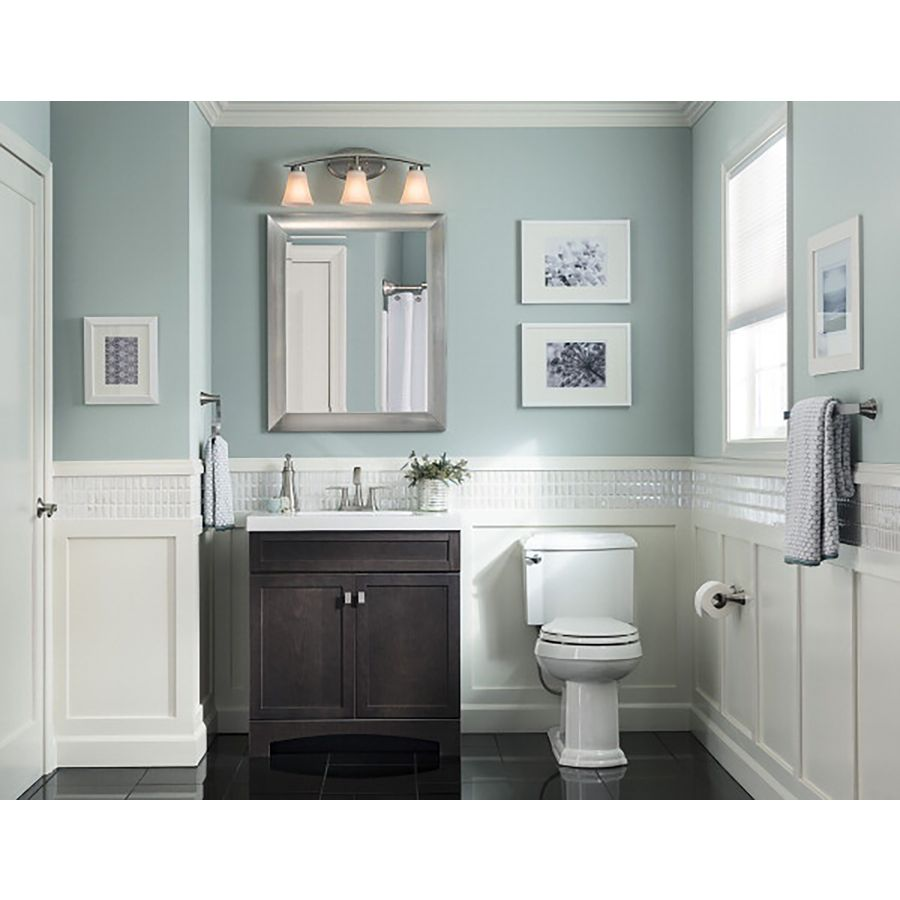 Shop Style Selections Drayden Gray Integral Single Sink Bathroom Vanity  With Cultured Marble Top (Common: 24 In X 19 In; Actual