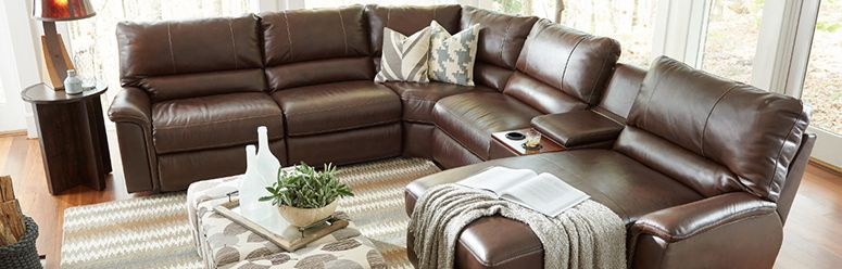 Lazboy 440 771 Norris Leather Reclining Sofa Hope Home