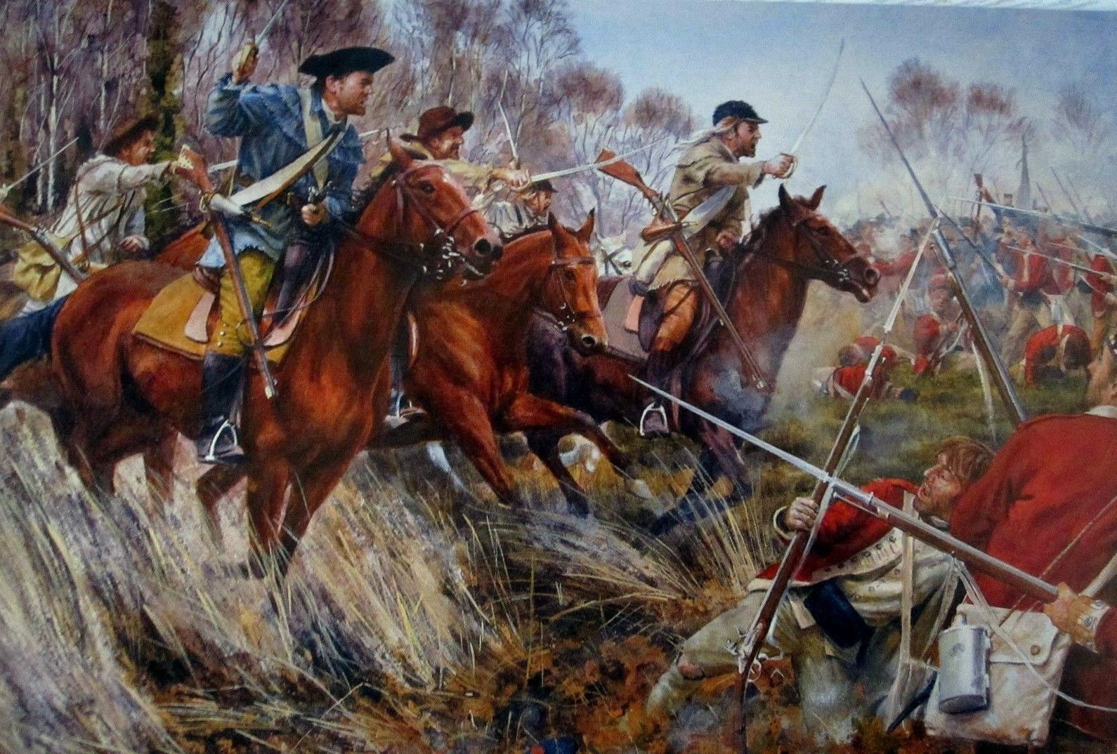 Militia cavalry charge
