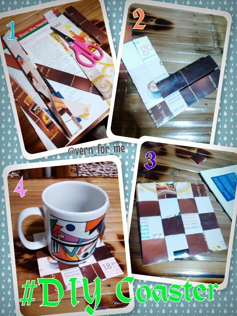 #DIYCoaster form recycled magazines ^_^