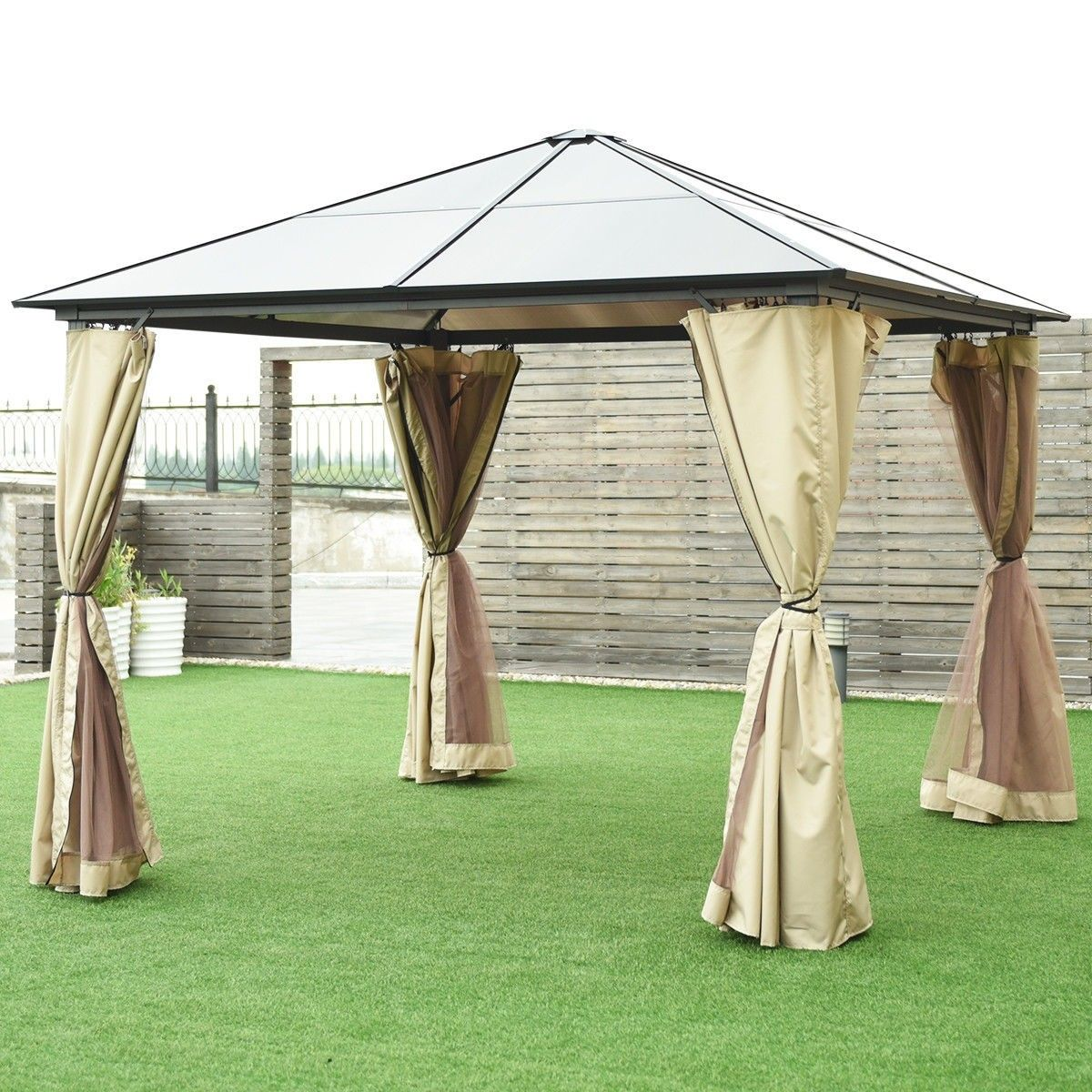 10 X 10 Gazebo Canopy Shelter Patio Party Tent Gazebo Canopy Gazebo Canopy Shelter