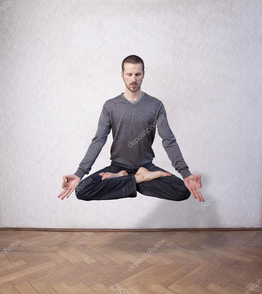 Young Man Levitating In Yoga Position Meditation Royalty Free Stock Images Sponsored Yoga Position Levitating Meditation Photos Yoga Yoga Positions