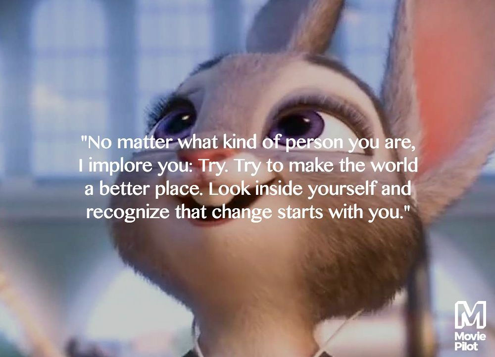 9 Best Inspirational Quotes From Zootopia  Zootopia, Disney quotes and Inspirational