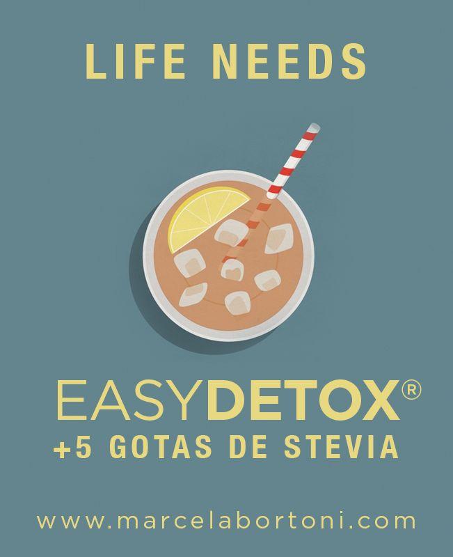 Life needs Easydetox + 5 gotas de stevia