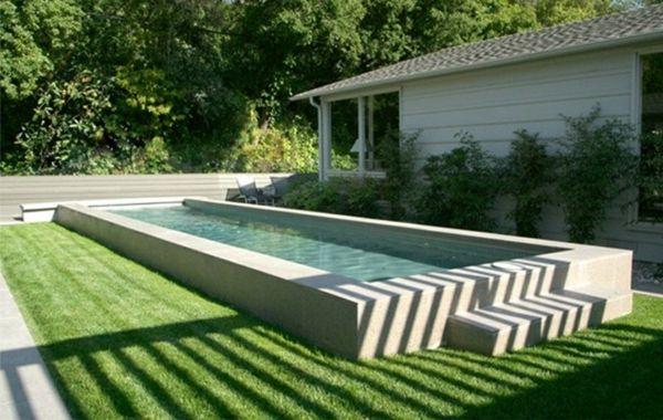 101 Bilder von Pool im Garten - landschaft design außenbereich - moderne gartengestaltung mit pool