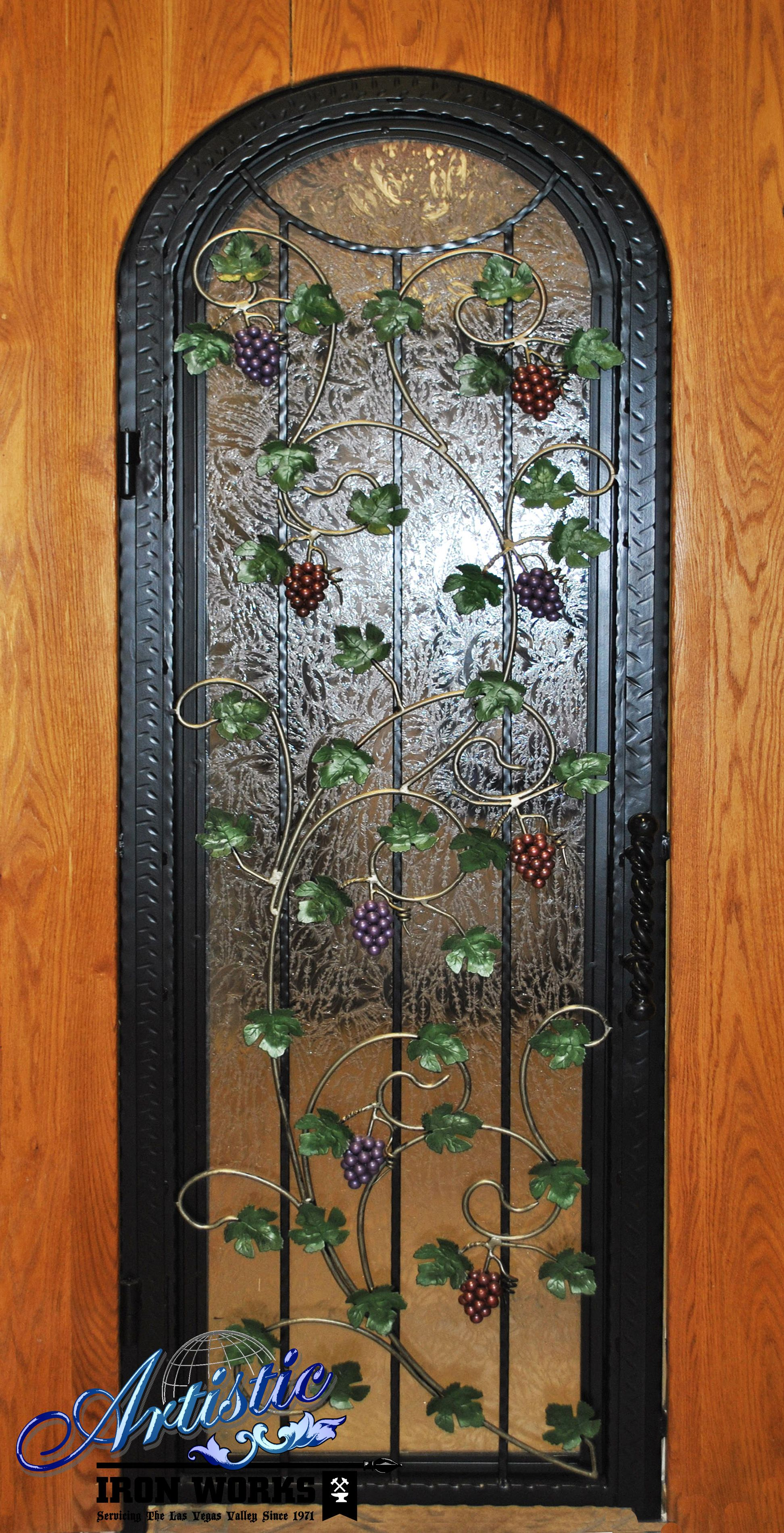 Grapes And Leaves Wrought Iron Wine Cellar Door With Images