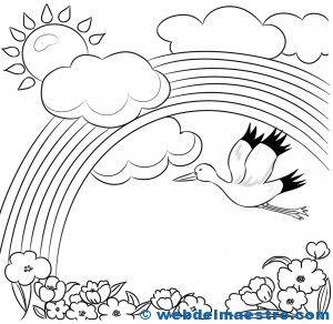 Paisajes para pintar | dibujos para colorear | Spring coloring