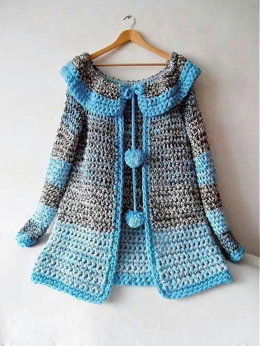 0094d7a9f4 Preciosa Gabardina a crochet!!