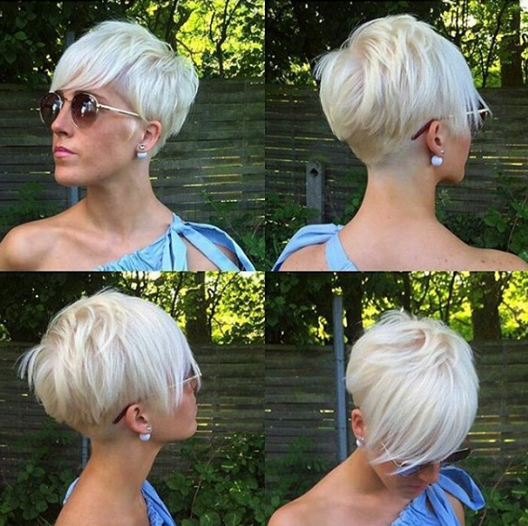 Pin Von Ashonda Holland Auf Hair Design Pixie Frisur Kurzhaarfrisuren Pixie Haarschnitt